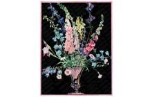 Flowers in Silver Vase