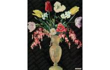 Spring Florals in White Vase