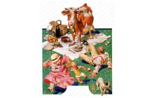 Cow Joins the Picnic