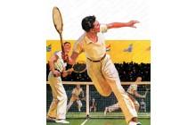 Doubles Tennis Match