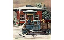 Rural Post Office at Christmas